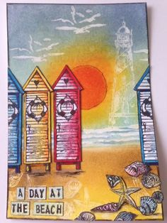 Art Journey Design-team: een dag op het strand/a day at the beach Mixed Media Journal, Mixed Media Art, Journal Design, Blogger Templates, Summer Art, Ink Painting, Beach Day, Art Journals, Altered Art