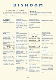 Dishoom—All-day Indian street menu in Bombay-style cafe with vintage decor, marble tables and ceiling fans. London, UK