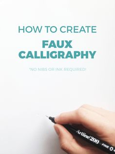 How to Create Fake Calligraphy