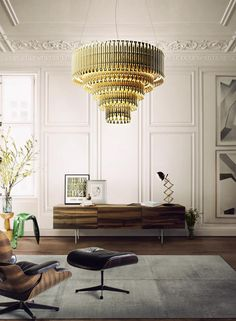 Love the iconic Eames chair against the classic architecture