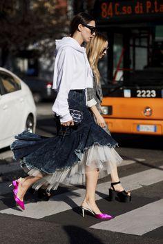 The Best Street Style At Milan Fashion Week Spring Summer 2018