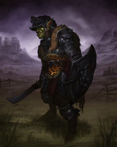 Fantasy Weapons, Fantasy Rpg, Medieval Fantasy, Character Concept, Character Art, Concept Art, Character Ideas, Battle Brothers, Orc Warrior