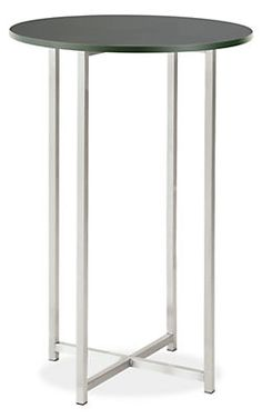 Classic End Tables in Stainless Steel - End Tables - Living - Room & Board