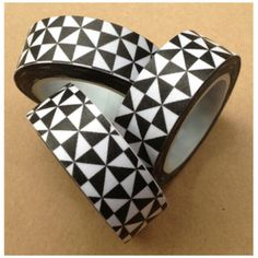 Triangles Washi Tape Roll Adhesive Stickers WT551 by CharmTape