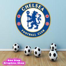 CHELSEA FOOTBALL CLUB LOGO FULL COLOUR WALL ART STICKER - BOYS BEDROOM C12