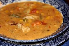 A good hearty, southern chicken stew, made from a stewed chicken, fresh potatoes and your choice of veggie add-ins.