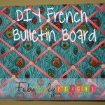 Hey Y'all! Today I'm going to show you how to make this easy French Bulletin board. It is a great idea for a baby shower, or a project a group of teen girls cou