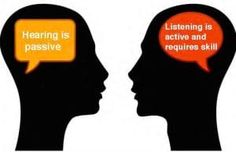 Learn the difference between active listening and hearing - your relationships depend on it!