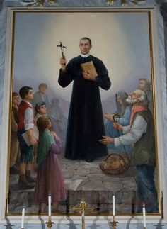 "20th century's oil painting by Emilio Larocca into the mother church of ""San Nicola di Bari"" in Lauria."