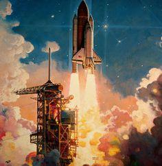 Sunrise Launch // Illustration: Robert McCall