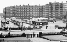 Leeds Bus Station with Quarry Hill Flats in the background. Used in filming of Queenie's Castle TV Programme and now sit of Department of Health Leeds England, Sheffield England, Yorkshire England, West Yorkshire, Old Images, Old Pictures, Old Photos, Council Estate, Derelict Places