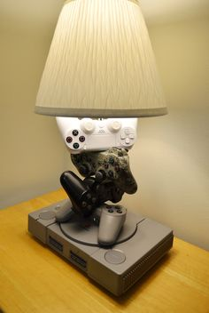 Playstation 4 3 2 1 Lamp Sculpture - Complete History of PlayStation in a desk lamp