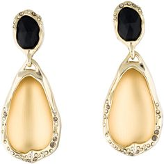 Pre-owned Alexis Bittar Crystal & Lucite Drop Earrings ($125) ❤ liked on Polyvore featuring jewelry, earrings, gold colored earrings, acrylic earrings, gold tone drop earrings, preowned jewelry and alexis bittar