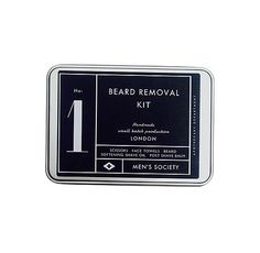 men's society grooming kit - no. 1 beard removal kit