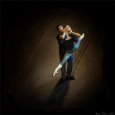 Roberto Bolle and Diana Vishneva rehearsing La Dame aux Camélias