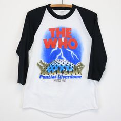 The Who Shirt Vintage tshirt 1982 Clash Pontiac Silverdome Concert tee 1980s punk rock band raglan jersey Pete Townsend Mick Jones 80s