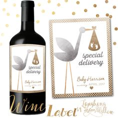 Happy Birthday Wine Label Chalkboard Printable Wine Vino