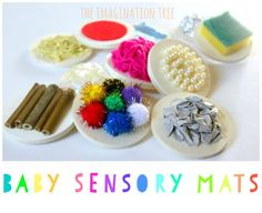 tapetes sensoriais DIY para bebês
