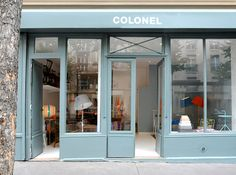 A Visit to Colonel Design Store in Paris - Design Milk Shop Front Design, Store Design, Design Shop, Sign Design, Deco Paris, Colonel, Muuto, Boutique Deco, Paris Shopping
