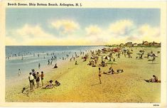 Arlington New Jersey Ship Bottom Beach Vintage Postcard 1948 #newjersey #beach #vintagepostcard