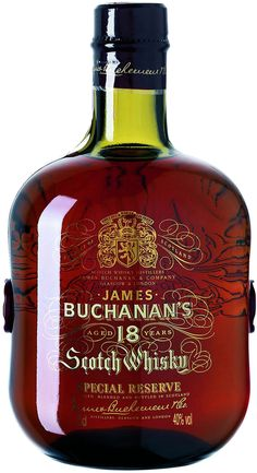 Buchanan's Special Reserve 18 Year Old Aged for a minimum of 18 years, this whisky earned a score of 95 points from the Beverage Testing Institute. Cigars And Whiskey, Whiskey Girl, Bourbon Whiskey, Whiskey Bottle, Irish Whiskey, Whiskey Brands, Scotch Whisky, Malt Whisky, Vodka