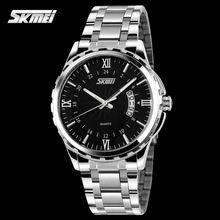TOP Moda Relógios Homens Marca De Luxo de Aço Inoxidável Relógio De Quartzo…