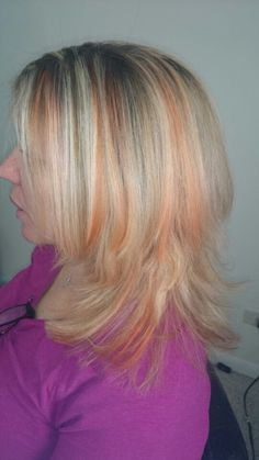 My client wanted a color that would pop so i added copper lowlights