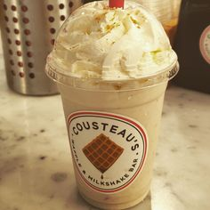 """Cousteau's Waffle & Milkshake Bar, I need go back for the waffle but the milkshake was😋😋. """"Hand-spun milkshakes; Our rich, thick milkshakes start with dense housemade soft-serve ice cream, then get blended with a whole range of homemade goodies and topped with fresh whipped cream."""" - cousteau  #sweet #milkshake #waffle #icecream #homemade #cookie #cream #bemaifoodie"""