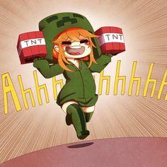 Minecraft Anime Girls, Minecraft Comics, Creeper Minecraft, Minecraft Fan Art, Minecraft Drawings, Minecraft Pictures, Capas Minecraft, Character Art, Character Design