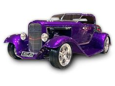 1932 Ford Roadster, antique car. My brother Steve was handcrafting a car like this---although it would not have been purple.
