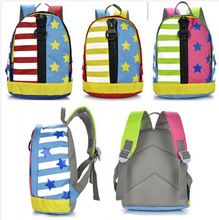 mochila escolar yeni anaokulu sırt sevimli çocukların çizgili yıldız çanta kız ve erkek çocuklar sırt çocukların okul çantaları(China (Mainland))