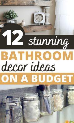 Wow, These DIY Bathroom Decor Ideas Look AMAZING! I am so glad I found these easy