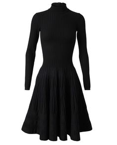Stretch Fleece Wool and Mesh Dress by AZZEDINE ALAÏA at Browns Fashion for $4,417.38
