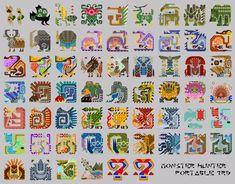 モンスターハンターポータブル3rd 全モンスターアイコン・素材集 / miimi さんのイラスト - ニコニコ静画 (イラスト) Monster Hunter Memes, Monster Hunter World, Creature Concept Art, Creature Design, Mythological Creatures, Fantasy Creatures, Dragon Mythology, Pokemon, Iron Beads