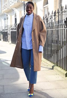 Pinstripes are perfect for refreshing your wardrobe in so take notes from the ASOS team who are all over the trend. Asos Fashion, Fashion News, Bow Heels, Got The Look, Spring Trends, Work Shirts, African Women, Fashion Pictures, Her Style