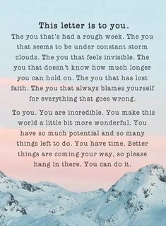 Motivational letter of you & for you. Motivational Letter, Inspirational Quotes, Social Work Quotes, Feeling Invisible, Tag People, Happy People, General Quotes, Dear Self, Letter To Yourself