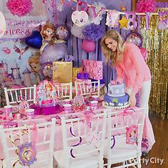 Prepare the party room with royal decor!