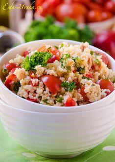 Салат из кускуса и тунца. Рецепт с фото.   Еда XXI века. Кулинарный блог Тимошина Алексея.