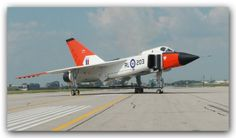 Canadian Avro CF-105 Arrow on the tarmac readying for take-off