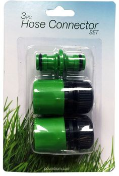 3pc Hose Connector Set Buy 20 for £0.64 each and save 8% Buy 40 for £0.59 each and save 15% Buy 80 for £0.49 each and save 29%