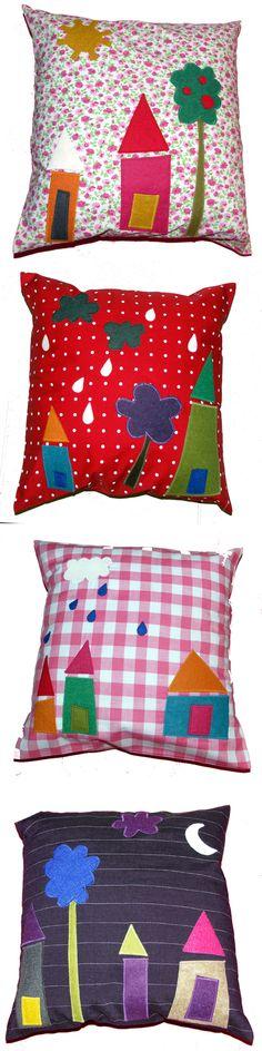 almofadas decoradas para alegrar o quarto das crianças - clemence g