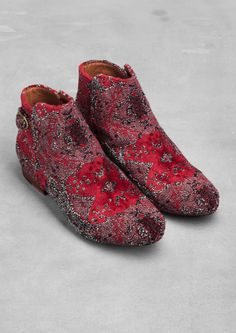 & Other Stories | Tapestry ankle boots