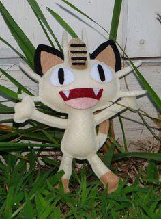 Amber's Craft a Week Blog: Felt Pokemon Meowth Plushie