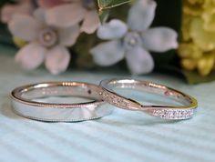 ミルグレインのマリッジリング(オーダーメイド/手作り) 永遠・長寿といったとても縁起のよい意味合いを持つミルグレイン。 無数の地金の粒を連続して打刻していく装飾技法を施したマリッジリングをお作りしました。 [marriage,wedding,ring,bridal,ウエディング,ブライダル,Pt900,diamond,ダイヤモンド]