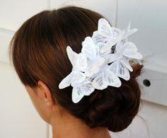 beautiful butterfly wedding hairpiece!