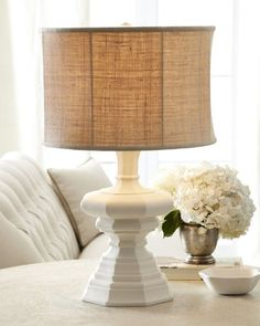 "home decor & interior design - ShopStyle: Neiman Marcus White ""Barcelona"" Lamp"