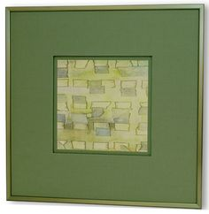 Rounded-corner moulding with green matting. Corner Moulding, Metal Frames, Round Corner, Green, Ideas, Home Decor, Metal Picture Frames, Decoration Home, Room Decor