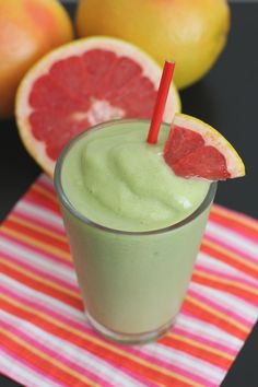 Red Grapefruit and Avocado Smoothie  Start off your day with something delicious. The tangy, sweet flavor of red grapefruit and the creamin...
