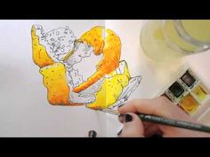 Draw Tip Tuesday - adding watercolours - YouTube