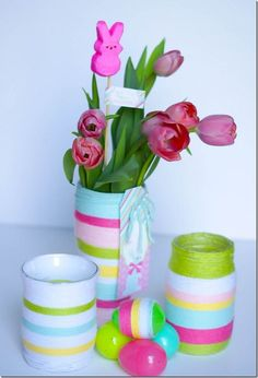 Easter Jar Vases